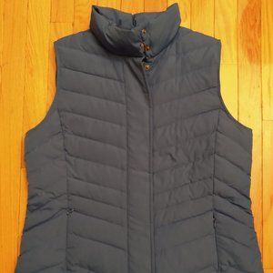 Talbots Quilted Sky Blue Down Puffer Vest